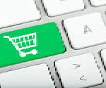 keyboard with a shopping cart image