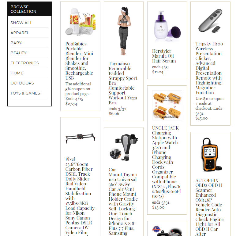 products for sale with amazon promo codes