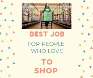 best job for people who love to shop
