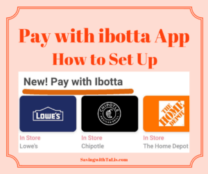 pay with ibotta app feature with sample stores