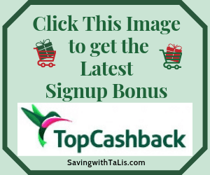 picture says click to see latest topcashback offer