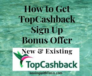 how to get topcashback sign up bonus offer