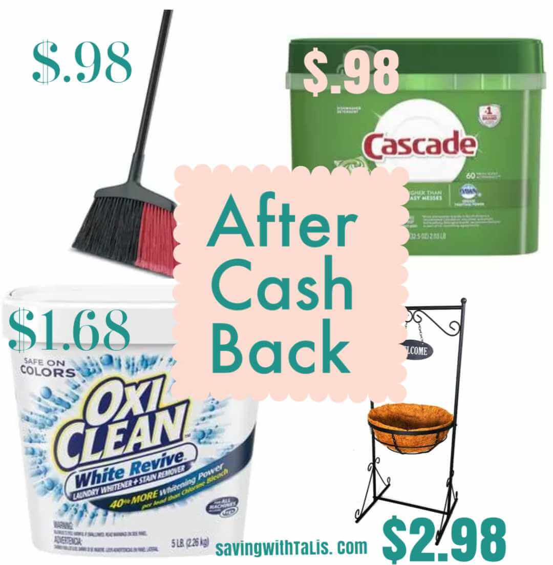 4 items on sale at very low prices after cash back