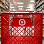 target shopping cart in aisle