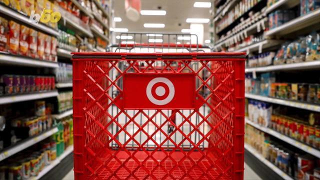 target shopping cart in aisle