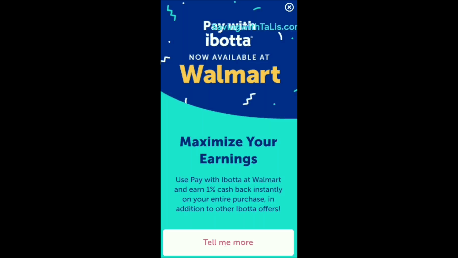 pay with ibotta at Walmart