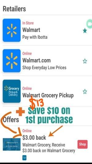 ibotta app walmart grocery rebate app