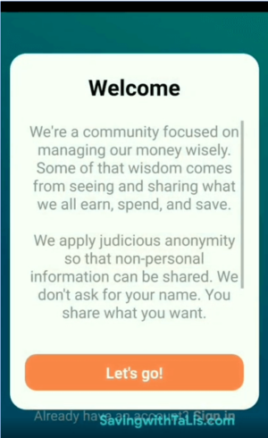 wismo budget app welcome message