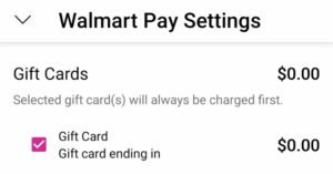 Walmart pay settings