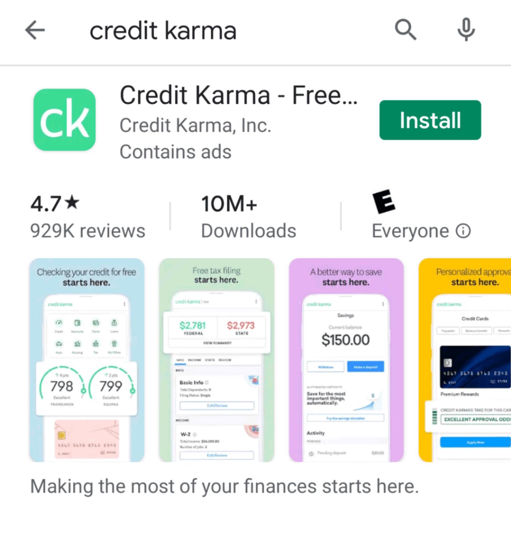 Credit Karma app download
