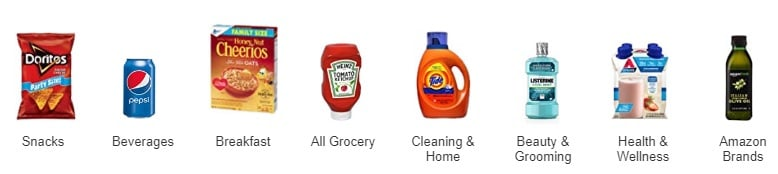 amazon pantry categories