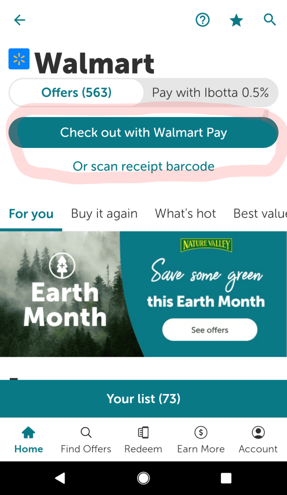 ibotta walmart 2 choices to redeem offers