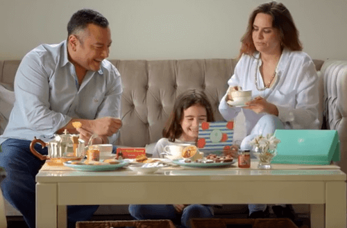 image of family enjoying food from travel the world subscription box
