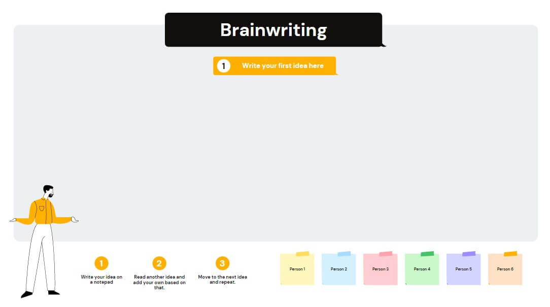 Great Canva template that simulates writing project ideas on a notepad.