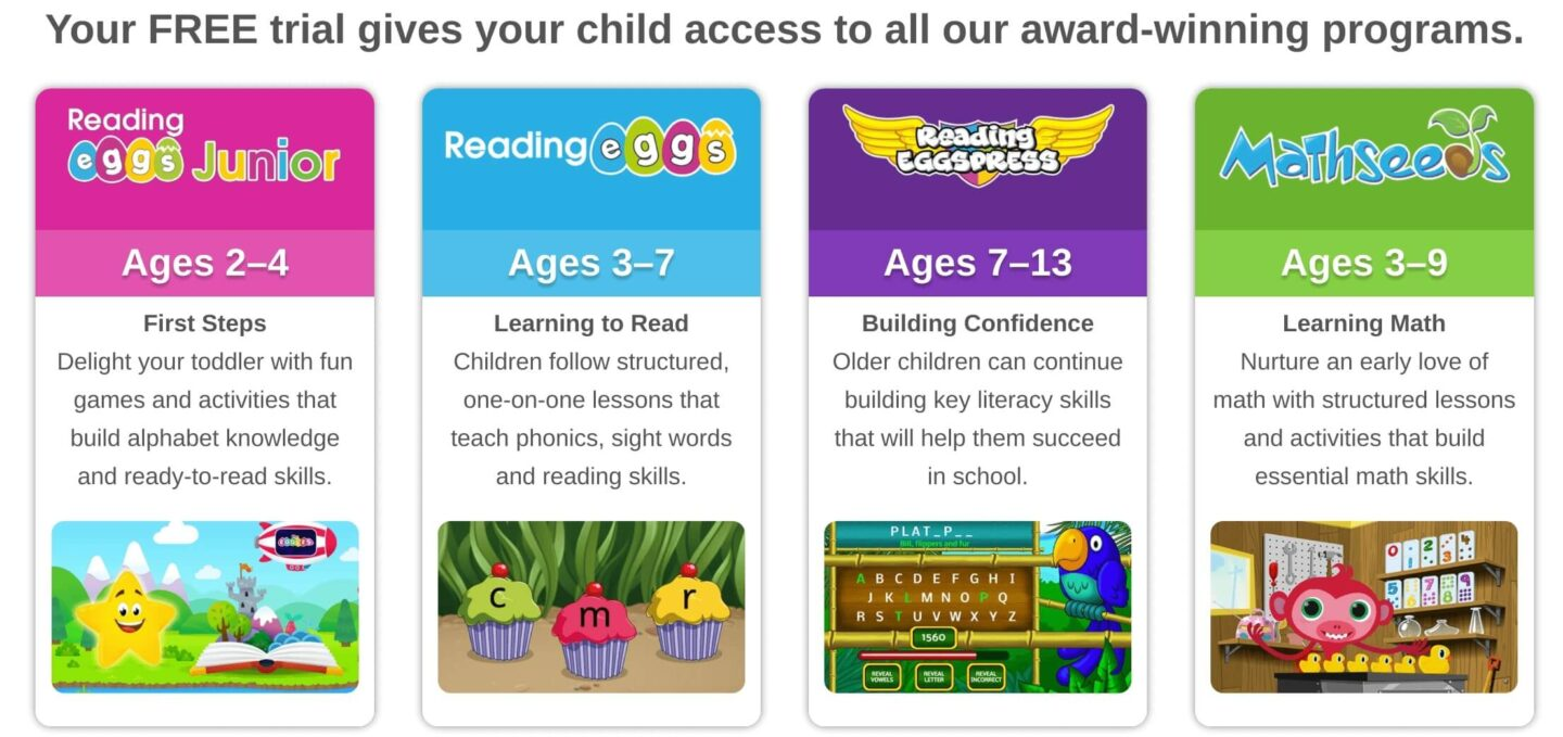 reading eggs subscription includes access to other sites