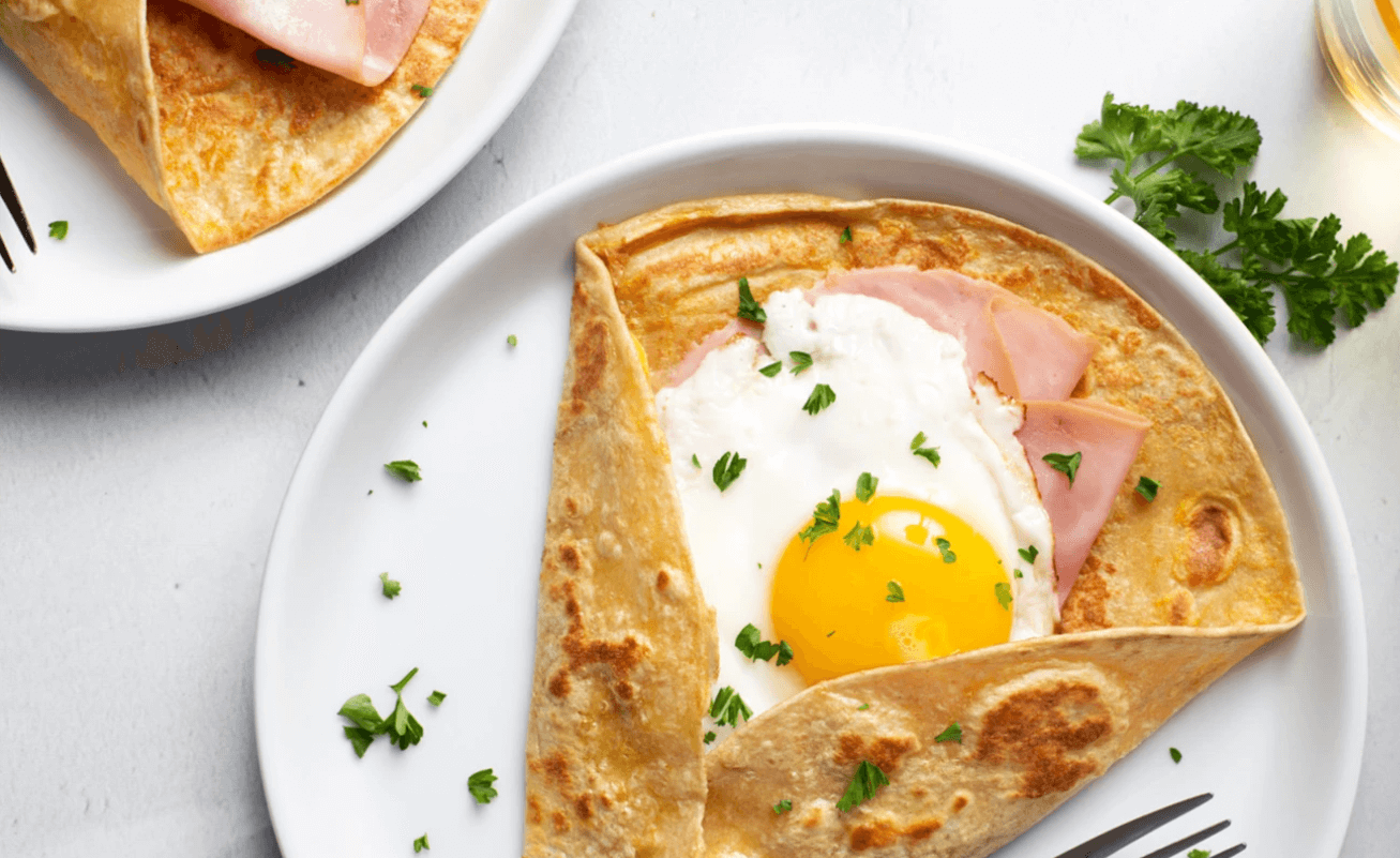 Protein breakfast crepes with Eat Me Guilt Free tortilla wraps
