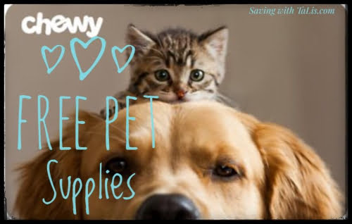 free offer at Chewy pet supply stores from TopCashback