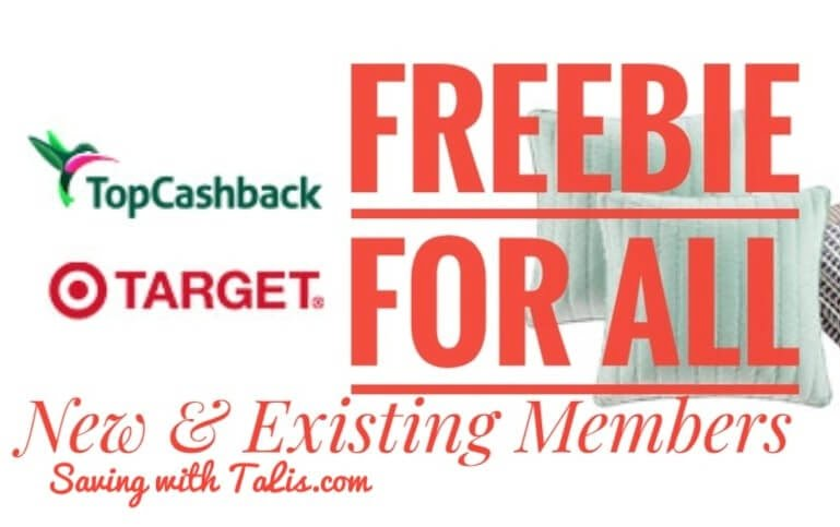topcashback free offer for new and existing members at Target