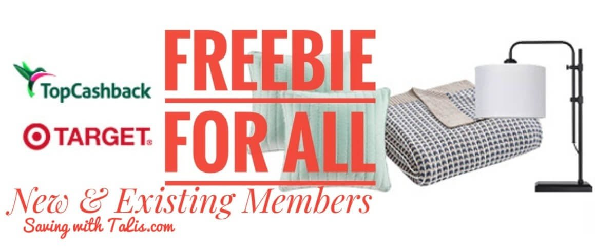 Free offer for new and existing topcashback members at Target