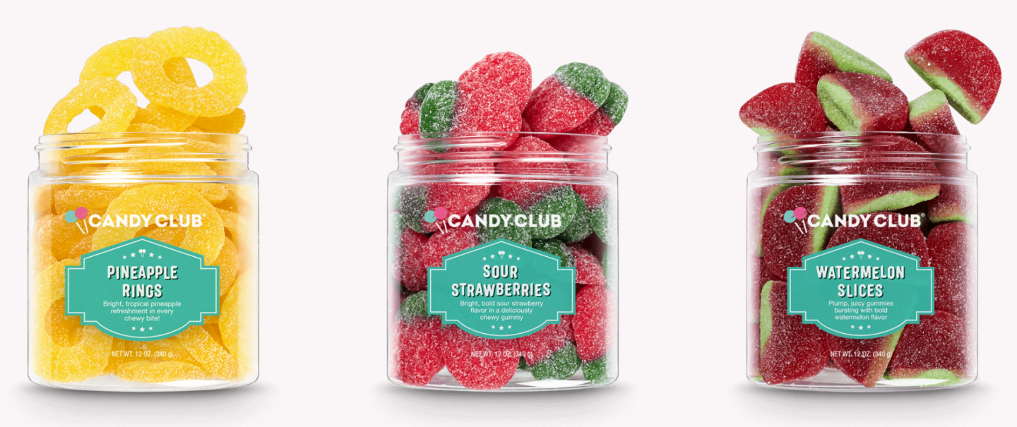 Candy Club sweet sour treat cups