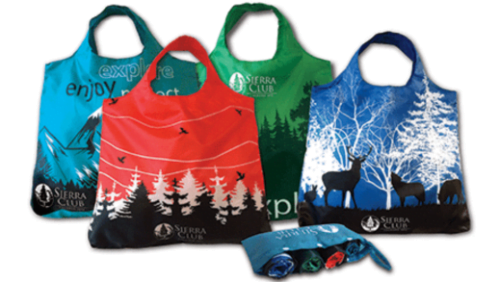 eco friendly reusable bags from Sierra Club with donation