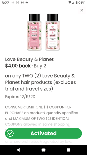 Love Beauty & Planet Hair Product –