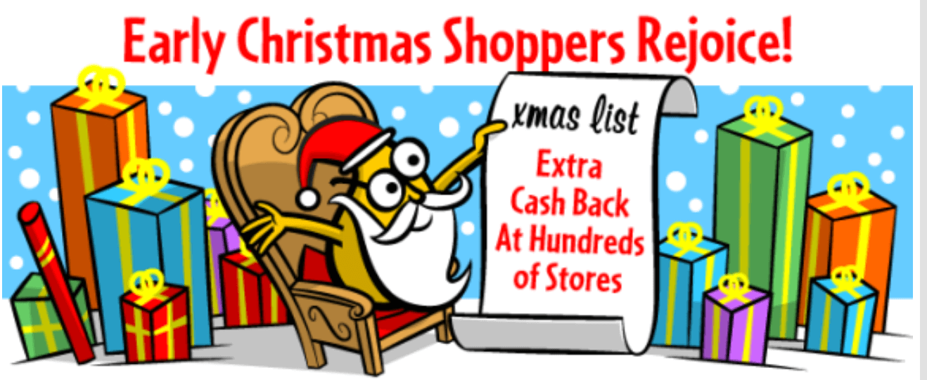 Mr Rebates Christmas shopping extra cash back store list