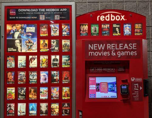 Redbox movie kiosk
