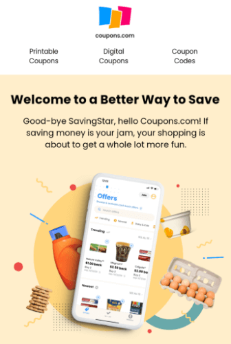 Coupons  app and Savingstar rebates
