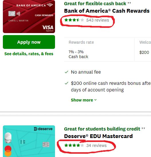credit card reviews on Credit Karma