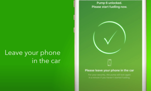 pay with phone Bp Me app at gas station