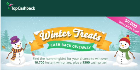 Topcashback holiday sweepstakes for new & existing members