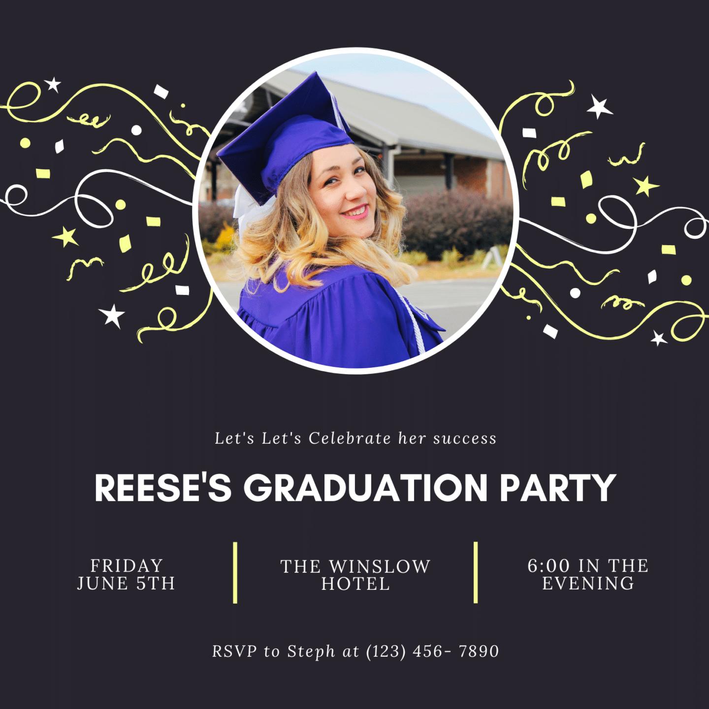Free Canva graduation party invitation