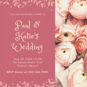 sample free wedding invitation