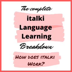 how to learn a language with italki