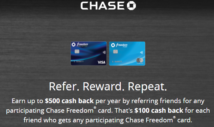 Chase Freedom Credit Card referral Program