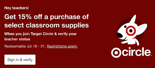 Target teacher discount sign up